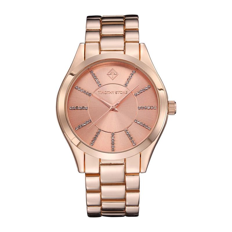 Γυναικείο Ρολόι Χρώματος Ροζ-Χρυσό με Μεταλλικό Μπρασελέ και Κρύσταλλα  Swarovski® Timothy Stone C ... 14faac63fe8