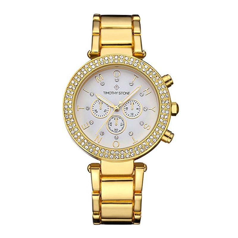 Γυναικείο Ρολόι Χρώματος Χρυσό με Μεταλλικό Μπρασελέ και Κρύσταλλα Swarovski®  Timothy Stone D-032 ... f467455050e