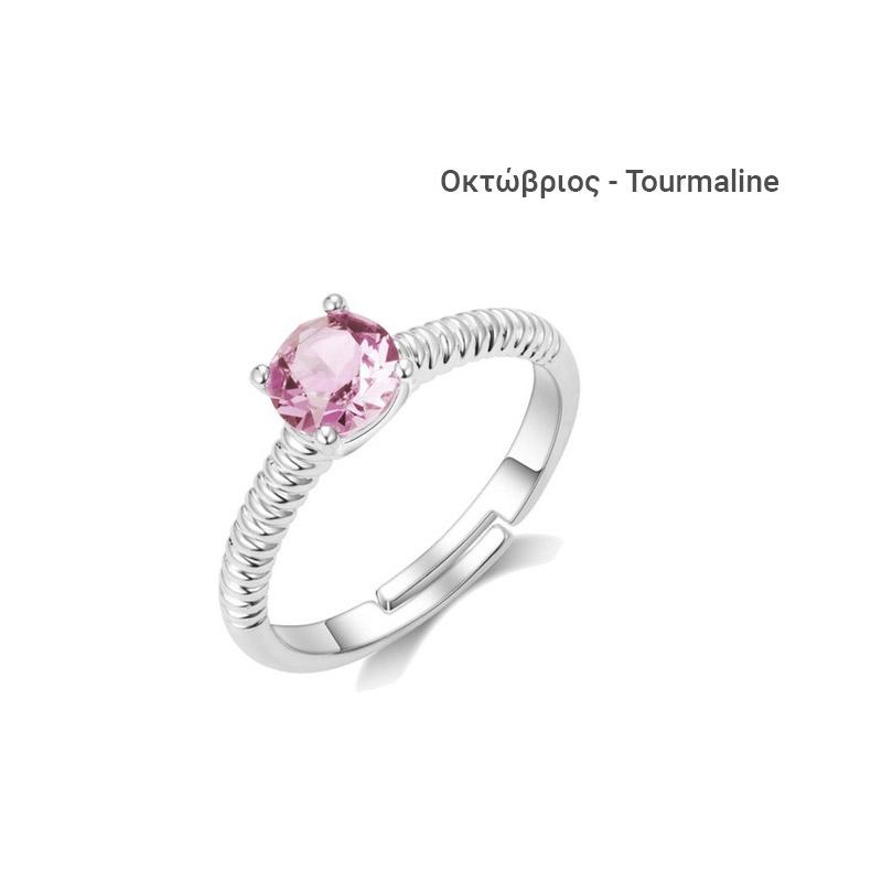 Δαχτυλίδι Philip Jones με Γενέθλια Πέτρα Οκτώβριος από Swarovski® 12656a12c84