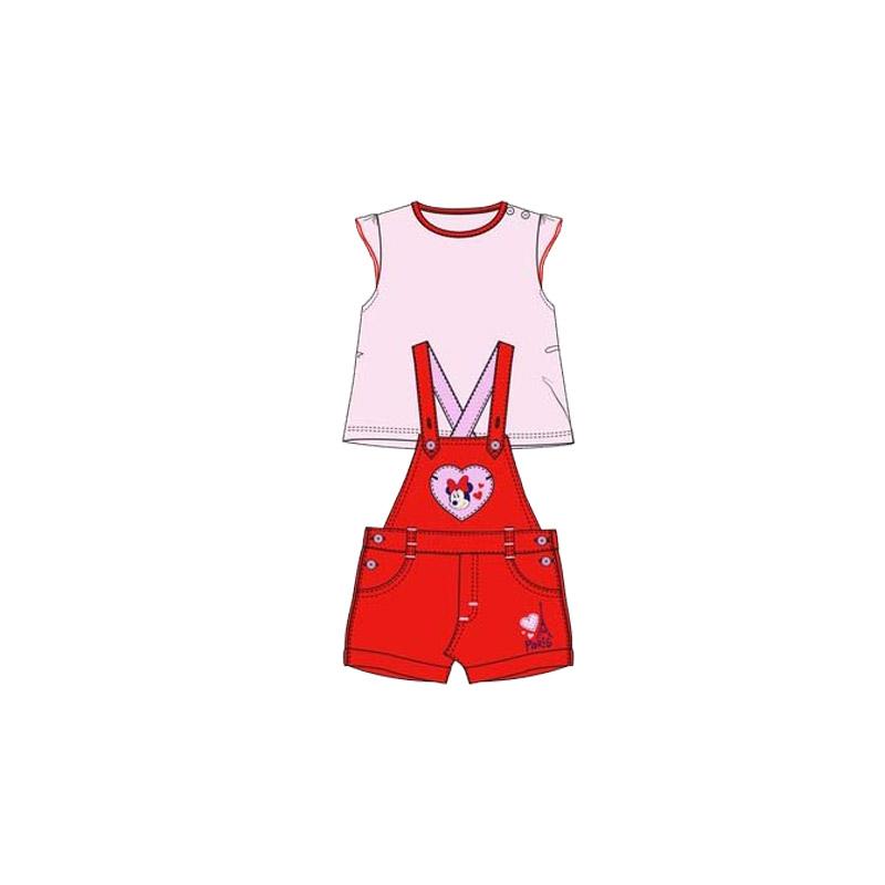 1104be6cf53 Βρεφικό Σετ Μπλούζα - Σαλοπέτα Χρώματος Κόκκινο Minnie Disney AQE0048