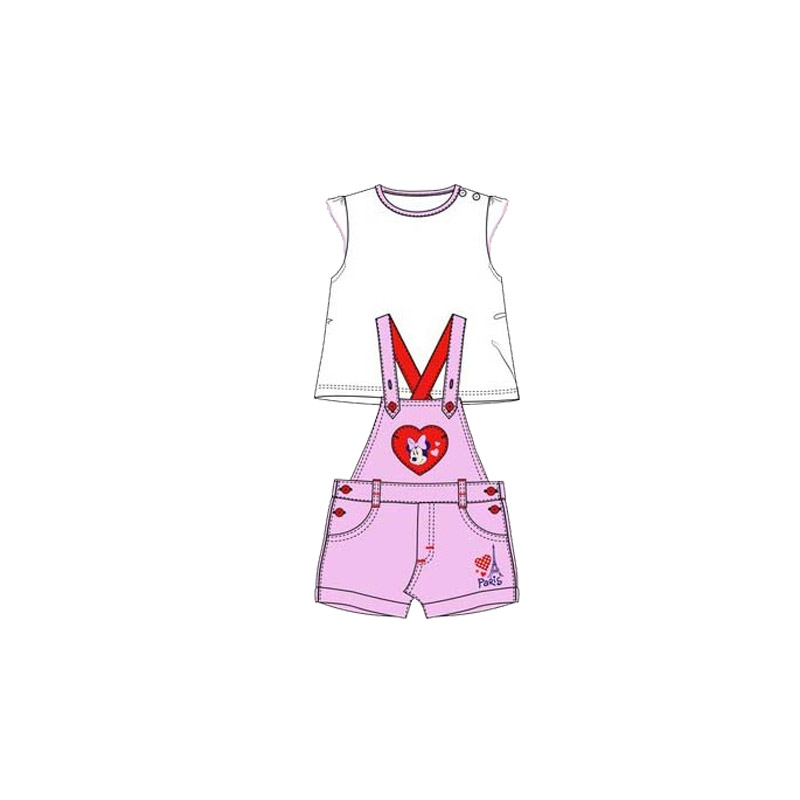d0892bd9467 Βρεφικό Σετ Μπλούζα - Σαλοπέτα Χρώματος Ροζ Minnie Disney AQE0048