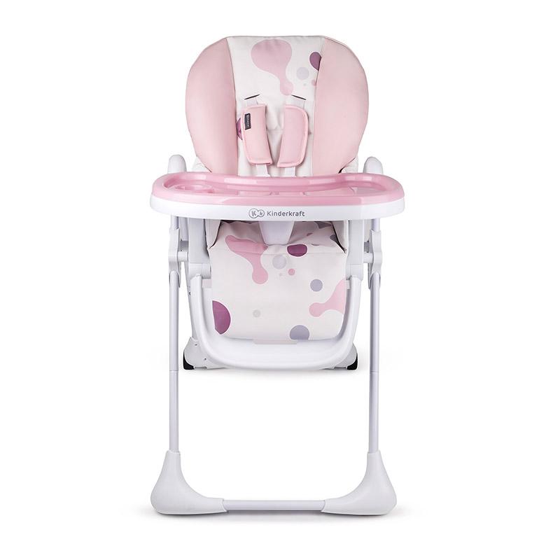 8c483d33921 Παιδικό Κάθισμα Φαγητού με Πτυσσόμενη Λειτουργία Χρώματος Ροζ Kinderkraft  Yummy