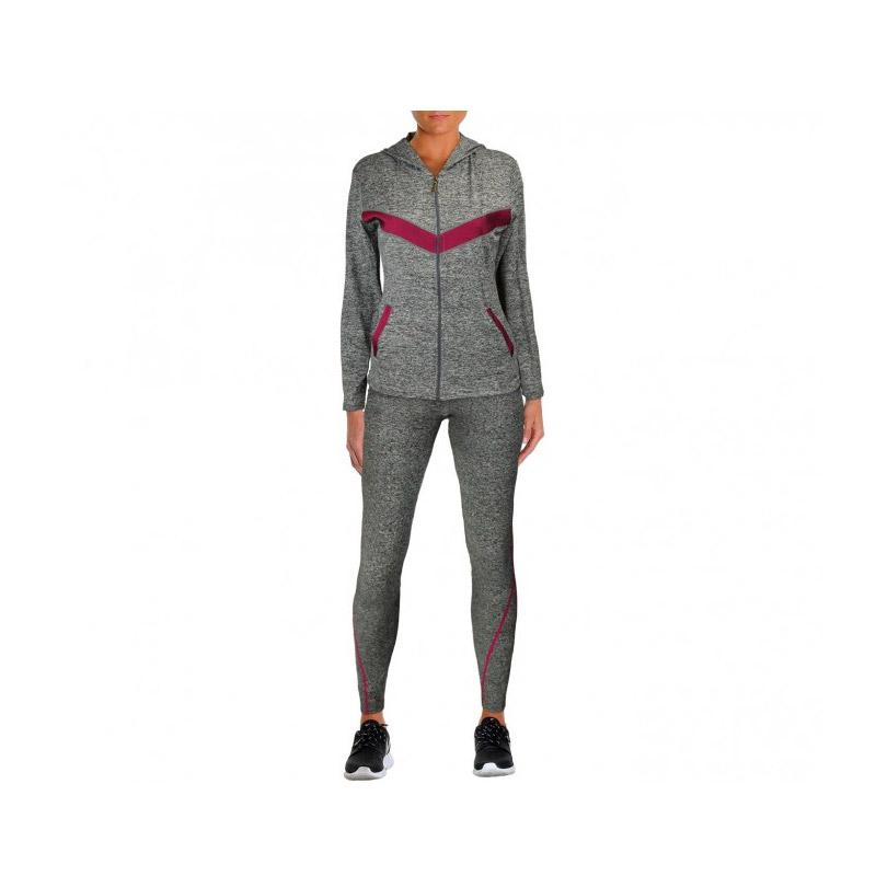 749158f4e467 Σετ Γυναικείες Αθλητικές Φόρμες Χρώματος Γκρι - Κόκκινο MWS3889