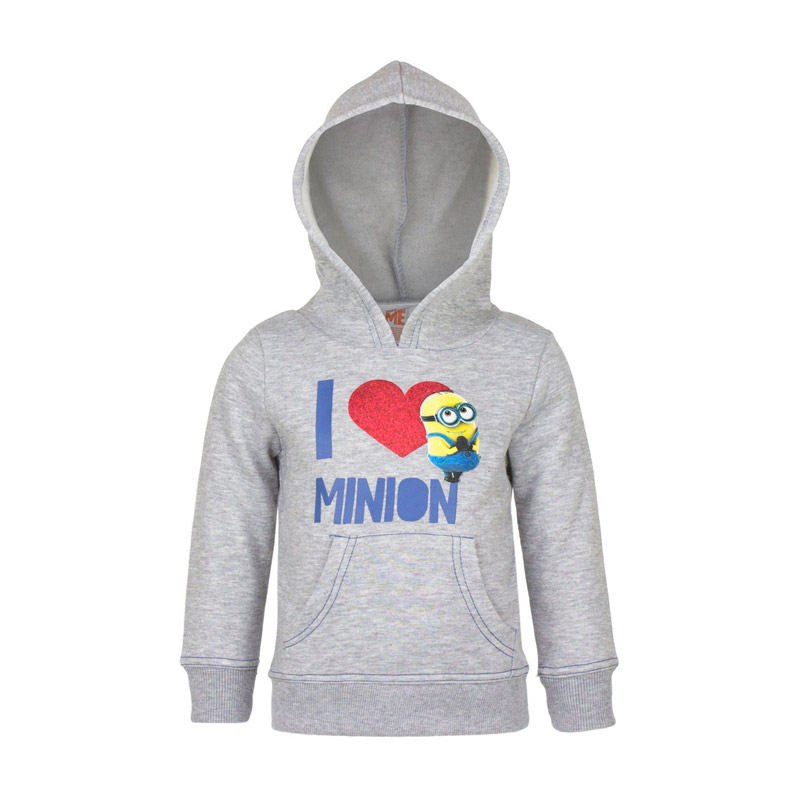 447cd9a6179 Παιδική Μπλούζα με Κουκούλα Χρώματος Γκρι Minions Disney HO1577
