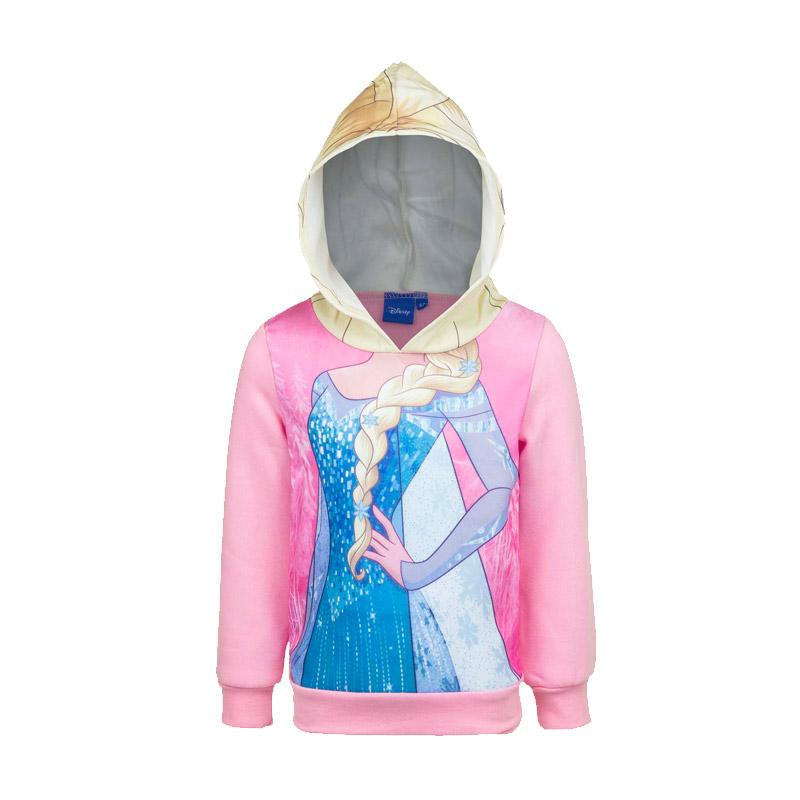 ca7f100cd1b Παιδική Μπλούζα με Κουκούλα Χρώματος Ροζ Frozen Disney DHQ1194