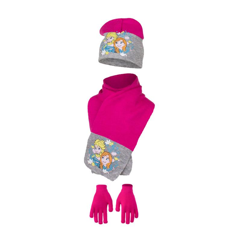 5bf47dd8551 Παιδικό Σετ Σκούφος - Κασκόλ και Γάντια Χρώματος Φούξια Frozen Disney HO4093