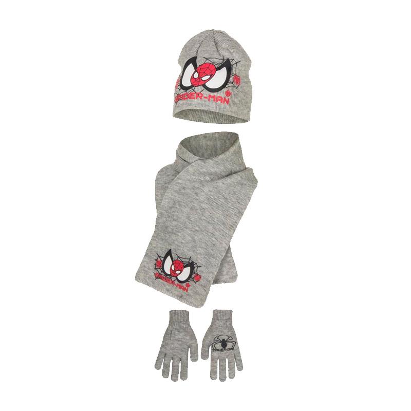 96e3d173d7f Παιδικό Σετ Σκούφος - Κασκόλ και Γάντια Χρώματος Γκρι Spiderman Disney  HM4153