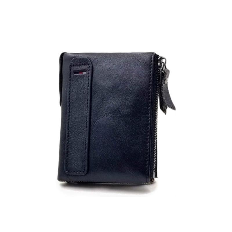 358b688e16 Δερμάτινο Ανδρικό Πορτοφόλι με Αντικλεπτική Προστασία RFID Χρώματος Μαύρο  SPM DB4469