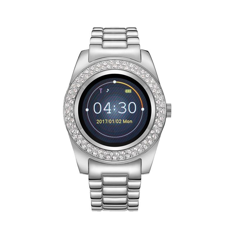 Γυναικείο Smartwatch Χρώματος Ασημί με Μεταλλικό Μπρασελέ και Κρύσταλλα  Swarovski® Timothy Stone SW-013 ... 44b3c706d6f