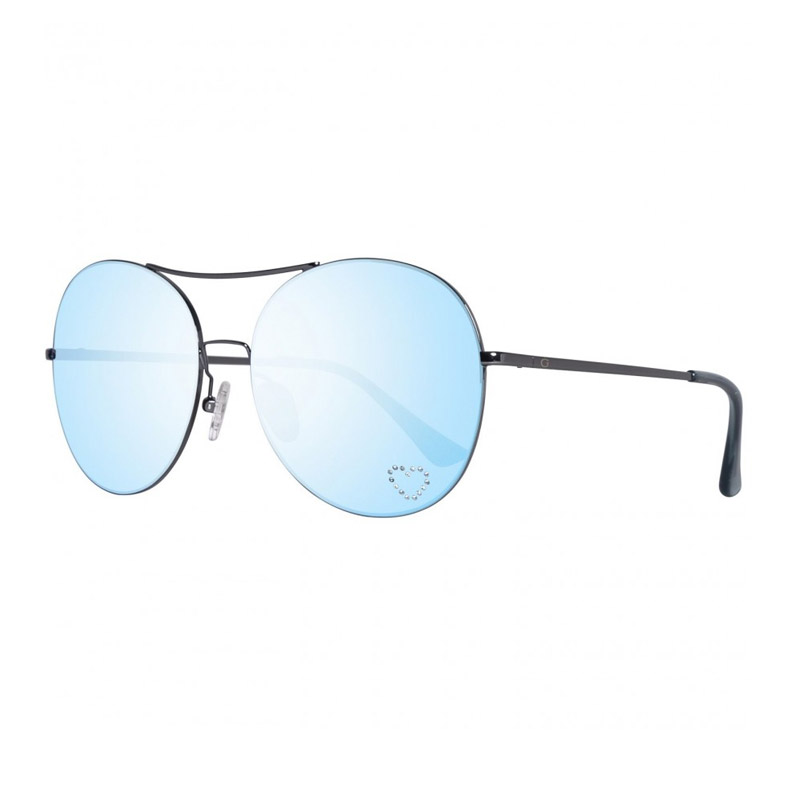 5a69e0867ae Γυναικεία Γυαλιά Ηλίου με Μεταλλικό Σκελετό και Φακούς Καθρέπτη Χρώματος  Μπλε Guess ...
