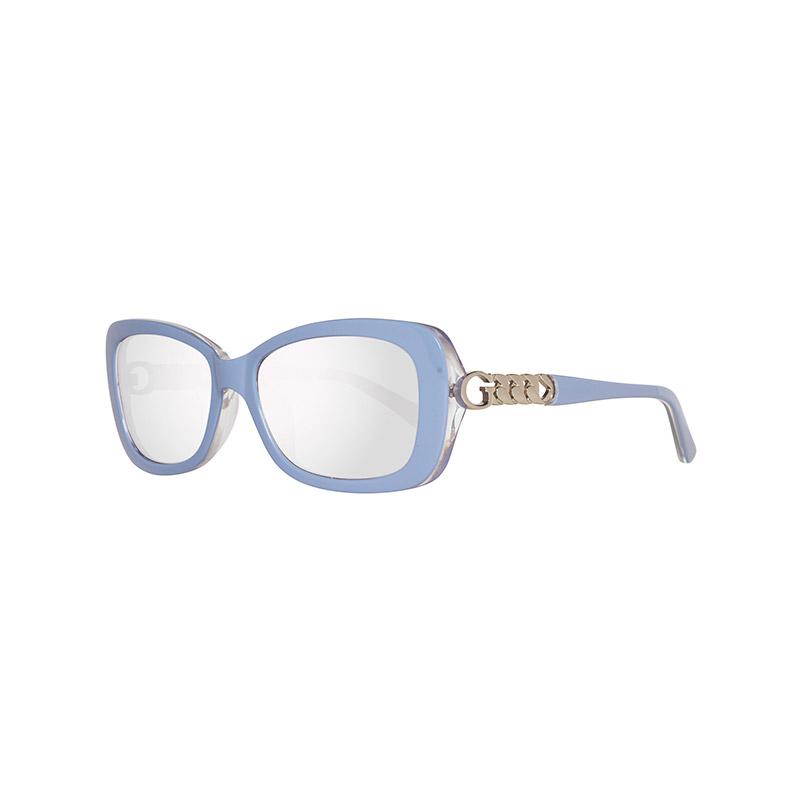 068ca03217 Γυναικεία Γυαλιά Ηλίου με Πλαστικό Σκελετό και Φακούς Καθρέπτη Χρώματος  Ασημί GU7453-90C-56 ...