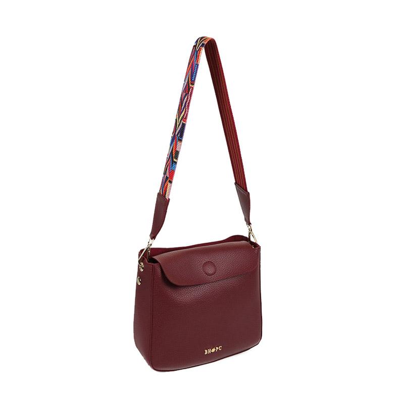 b88e0df758 Γυναικεία Τσάντα Ώμου Χρώματος Μπορντό Beverly Hills Polo Club 777  650BHP0641