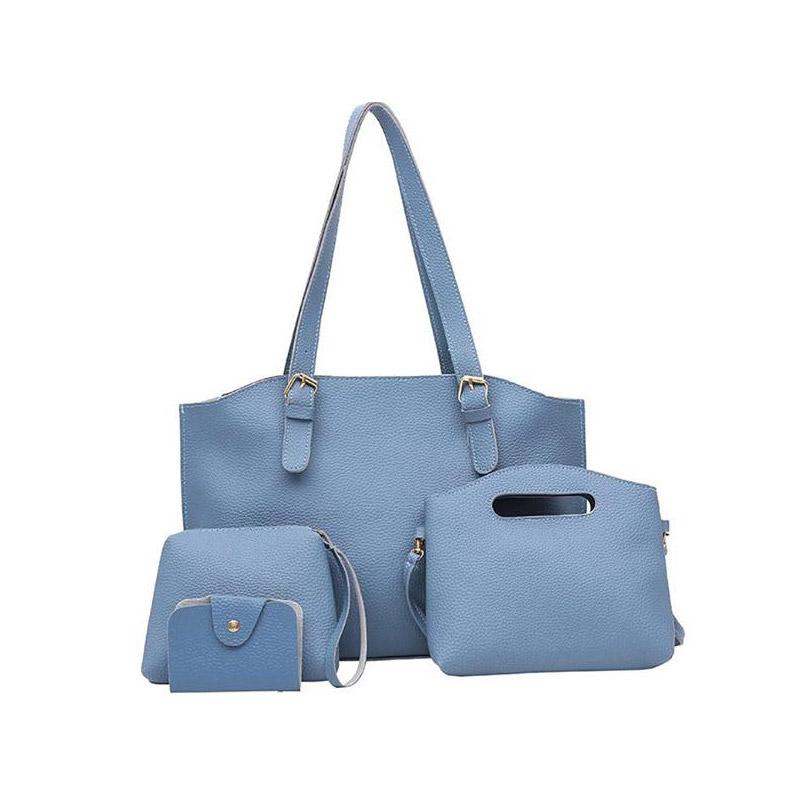 bc41277d6c Γυναικείες Τσάντες με Φερμουάρ Σετ 4 τεμαχίων Χρώματος Μπλε SPM DB4603
