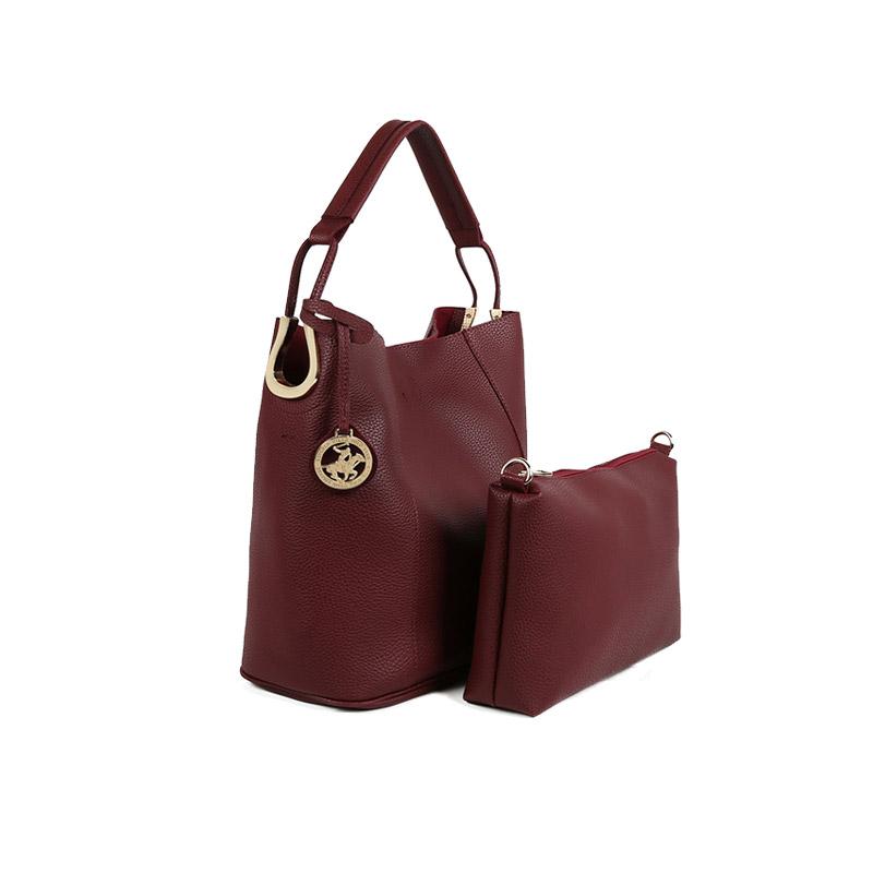 055a287f85 Γυναικεία Τσάντα Χειρός με Τσαντάκι Χρώματος Μπορντό Beverly Hills Polo  Club 397 650BHP0672 ...