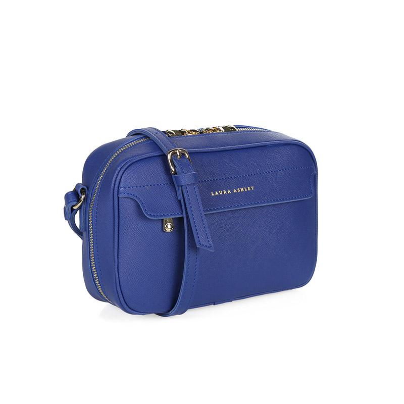 7621a9e3c23 Γυναικεία Τσάντα με Διπλό Φερμουάρ Χρώματος Μπλε Laura Ashley Furley  651LAS0839