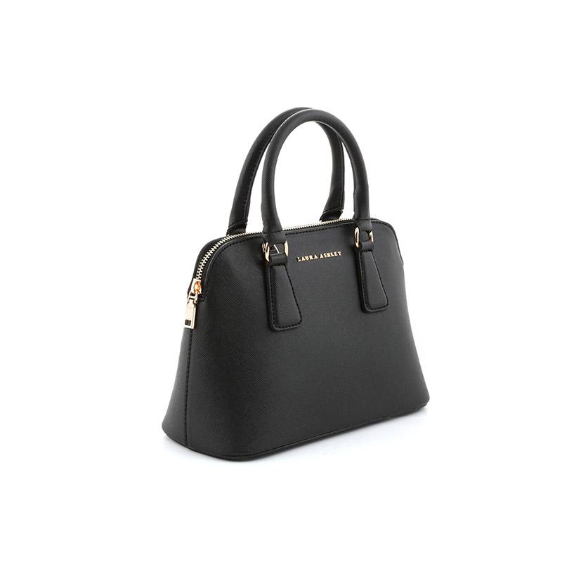 d8937b639d Γυναικεία Τσάντα Χειρός με 2 Λαβές Χρώματος Μαύρο Laura Ashley Charlton  651LAS0550