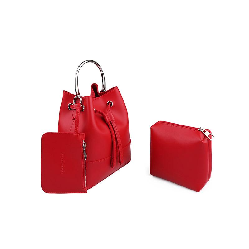 e3776634a6 Γυναικεία Τσάντα Χειρός με Μεταλλική Λαβή Χρώματος Κόκκινο Laura Ashley  Kensington 651LAS0950 ...