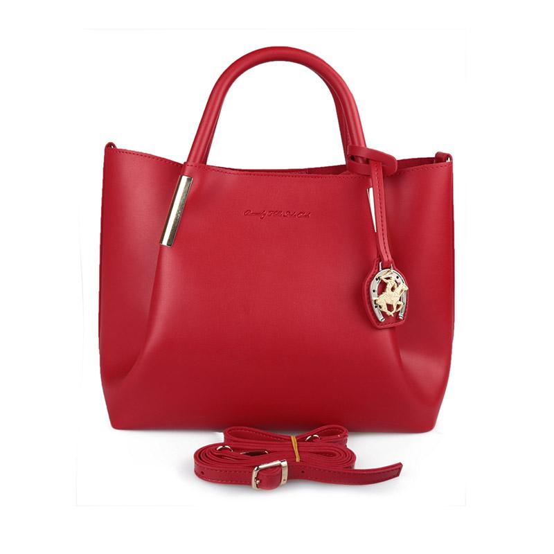 904e401019d Γυναικεία Τσάντα Χειρός Χρώματος Κόκκινο Beverly Hills Polo Club 701  657BHP0605