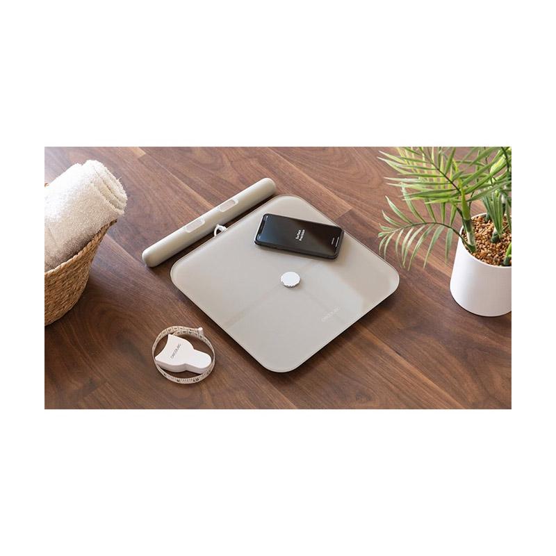 Ψηφιακή Ζυγαριά Μπάνιου - Λιπομετρητής Cecotec Surface Precision 10600 Smart Healty Pro Χρώματος Μπεζ CEC-04264
