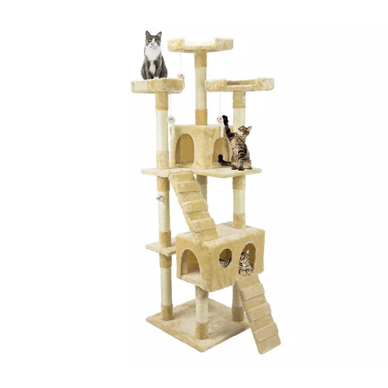 Δέντρο Γάτας - Ονυχοδρόμιο 75 x 62 x 170 cm Χρώματος Μπεζ Wintem PL-0816