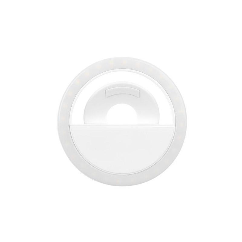 Επαναφορτιζόμενο LED Δαχτυλίδι Selfie για Smartphone με 3 Επίπεδα Έντασης SPM 11749