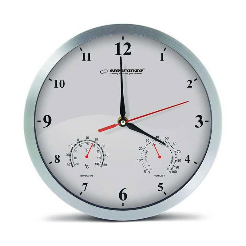 Ρολόι Τοίχου Esperanza Washington Χρώματος Λευκό EΡολόι Τοίχου Esperanza Washington Χρώματος Λευκό EHC008WHC008W