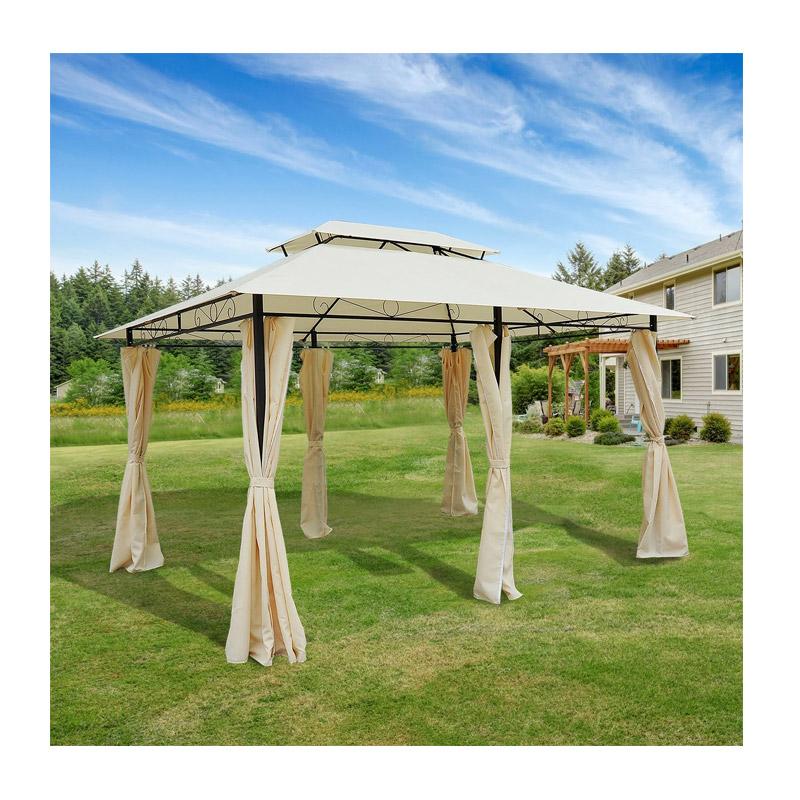 Κιόσκι Κήπου με Μεταλλικό Σκελετό και Διπλή Οροφή 400 x 300 x 265 cm Outsunny 01-0154
