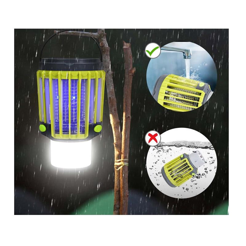 Ηλιακή και Επαναφορτιζόμενη Εντομοπαγίδα με Λάμπα LED και Φακό 3 σε 1 Costway EP24468