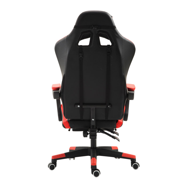 Καρέκλα Gaming με Υποπόδιο Χρώματος Κόκκινο Herzberg HG-8080RED