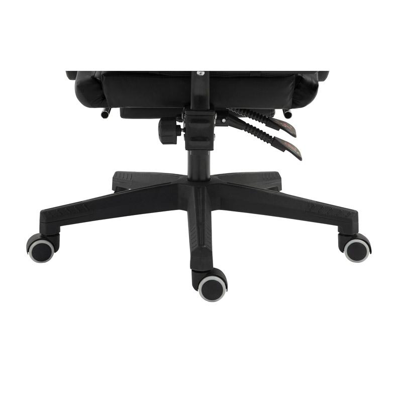 Καρέκλα Gaming με Υποπόδιο Χρώματος Μαύρο Herzberg HG-8080BLK