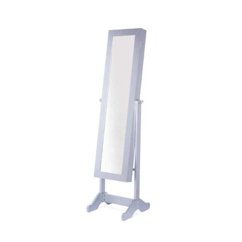 Κοσμηματοθήκη Μπιζουτιέρα 146 x 38.5 x 40 cm με Ολόσωμο Καθρέπτη και LED Φωτισμό Hoppline HOP1001120-1