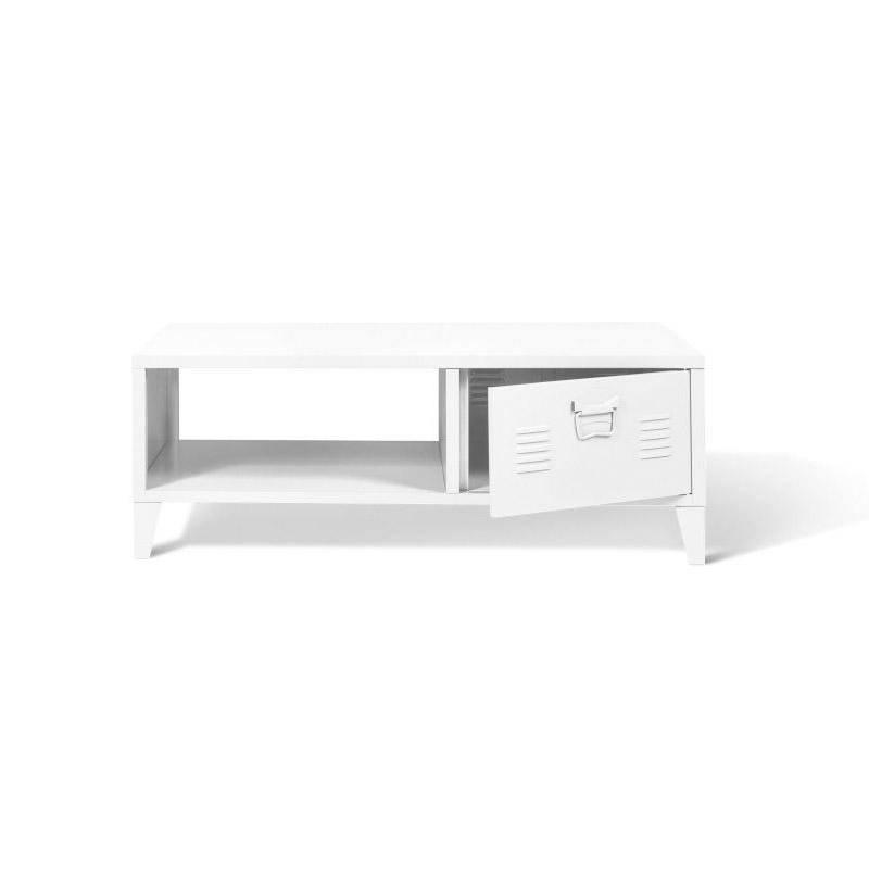 Μεταλλικό Τραπέζι Σαλονιού 100 x 50 x 36 cm Χρώματος Λευκό Storvik Idomya 30087324