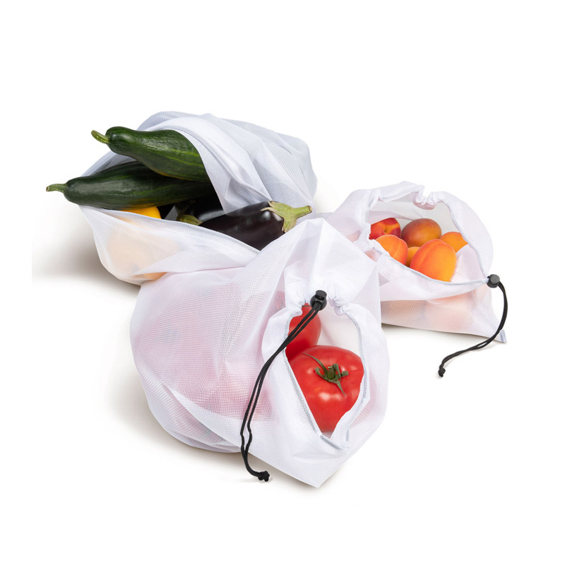 Σετ Επαναχρησιμοποιούμενες Σακούλες Φρούτων και Λαχανικών 3 Μεγεθών 10 τμχ Idomya 30020088