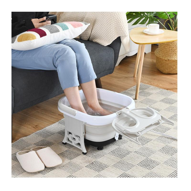 Αναδιπλούμενη Ηλεκτρική Συσκευή Υδρομασάζ Ποδιών με Τηλεχειριστήριο 500 W Χρώματος Γκρι Costway EP24782DE-GR