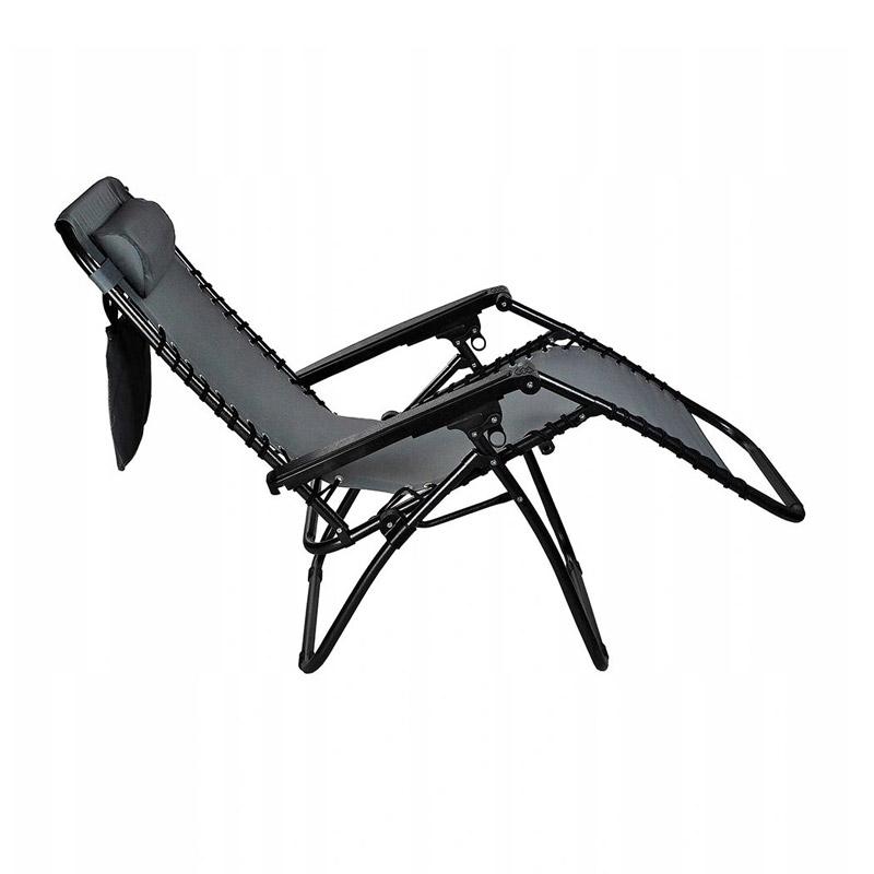 Μεταλλική Πτυσσόμενη Καρέκλα Κήπου - Ξαπλώστρα 80 x 52 x 110 cm Malatec 10047