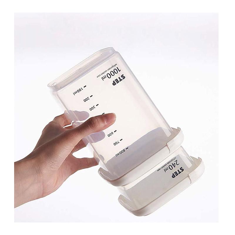 Σετ Πλαστικά Αεροστεγή Δοχεία Τροφίμων με Κλίμακα Μέτρησης 4 τμχ GEM BN5750