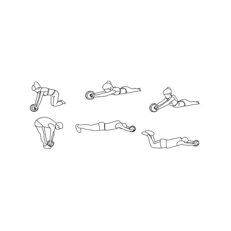 Σετ Ρόδα - Τροχός Κοιλιακών με Μεταλλική Μπάρα και Στρώμα Γυμναστικής SPM 4567
