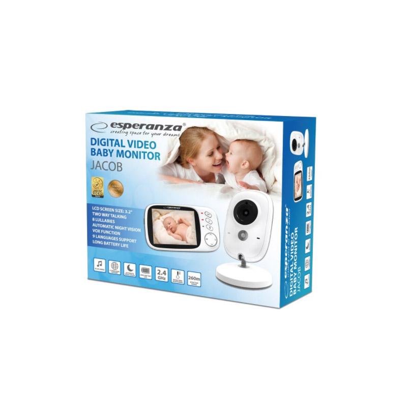 """Συσκευή Παρακολούθησης Μωρού με LCD Οθόνη 3.2"""" Esperanza Jacob EHM002"""