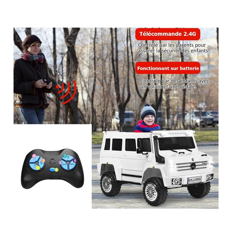 Ηλεκτρικό Παιδικό Αυτοκίνητο με Τηλεχειριστήριο 2.4G 3 Ταχυτήτων 102 x 61 x 60 cm Costway TY327790DE-WH