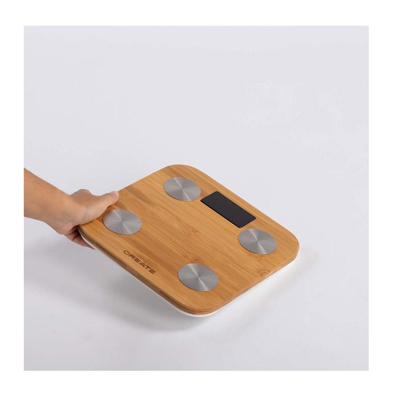 Ψηφιακή Ζυγαριά Μπάνιου - Λιπομετρητής από Μπαμπού SMART CREATE IKOHS 8435572606893