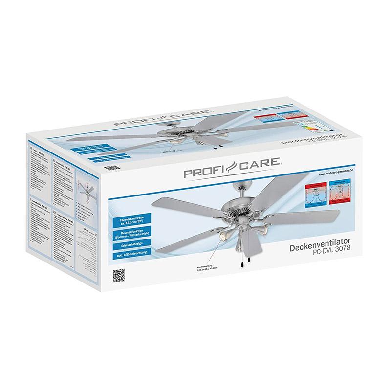 Ανεμιστήρας Οροφής Φωτιστικό 52'' ProfiCare PC-DVL3078