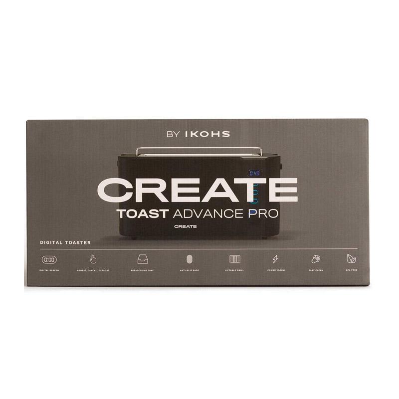 Φρυγανιέρα 1000 W Χρώματος Μαύρο TOAST ADVANCE PRO CREATE IKOHS 8435572607197