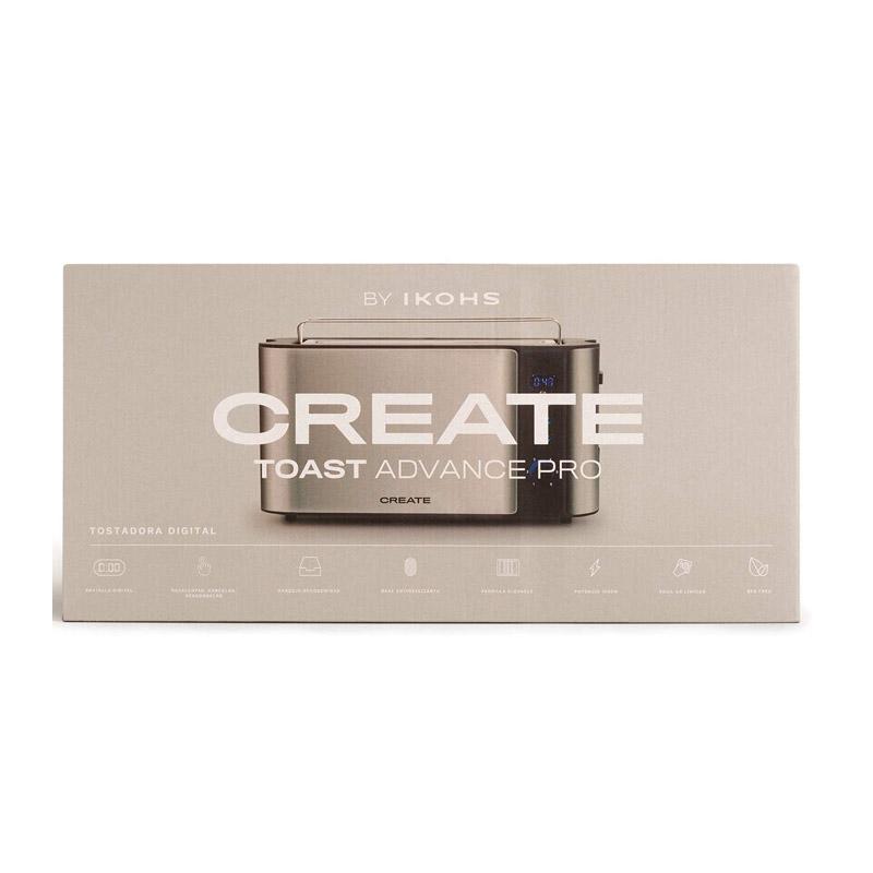 Φρυγανιέρα 1000 W Χρώματος Inox TOAST ADVANCE PRO CREATE IKOHS 8435572607180