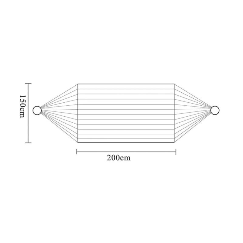 Υφασμάτινη Διπλή Αιώρα 200 x 150 cm Χρώματος Γκρι Hoppline HOP1000120-4