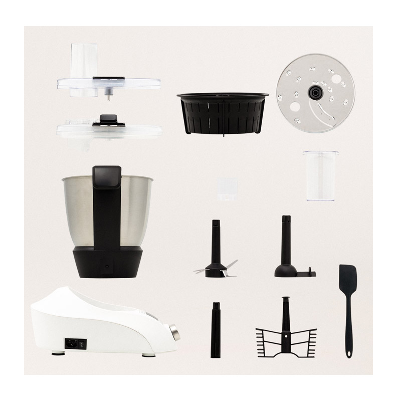 Πολυμάγειρας Ρομπότ 1000 W με Βιβλίο Συνταγών Χρώματος Λευκό CHEFBOT IKOHS 8435572602239