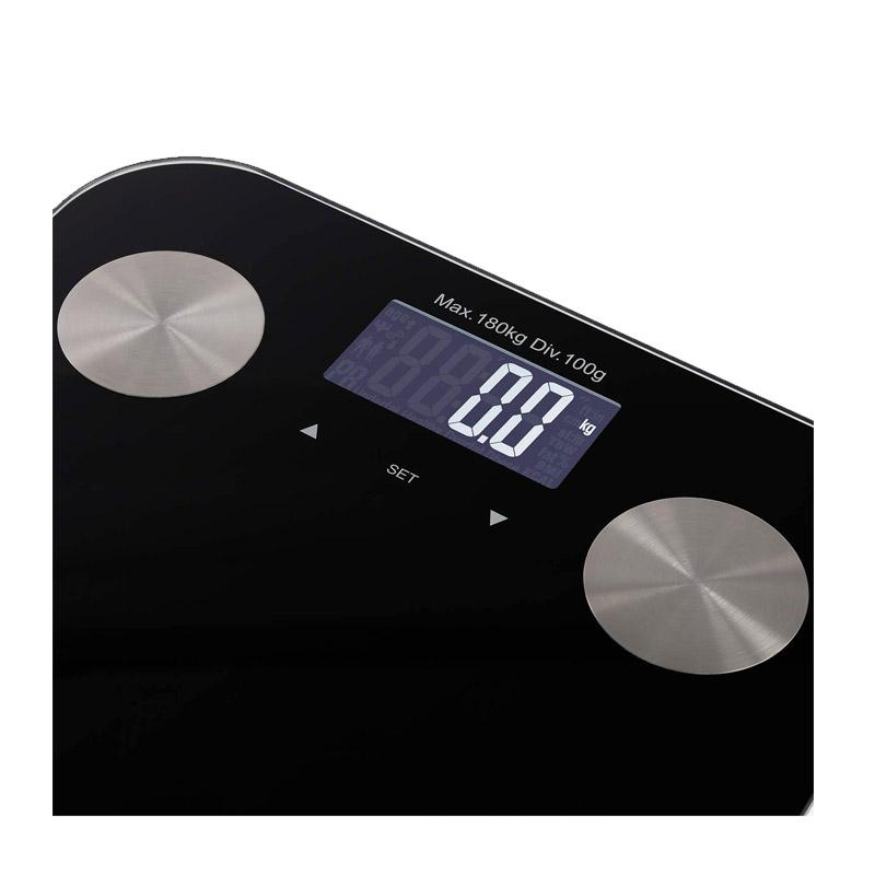 Ψηφιακή Ζυγαριά Μπάνιου - Λιπομετρητής Χρώματος Μαύρο SMART BODY BIO CREATE IKOHS 8435572607708