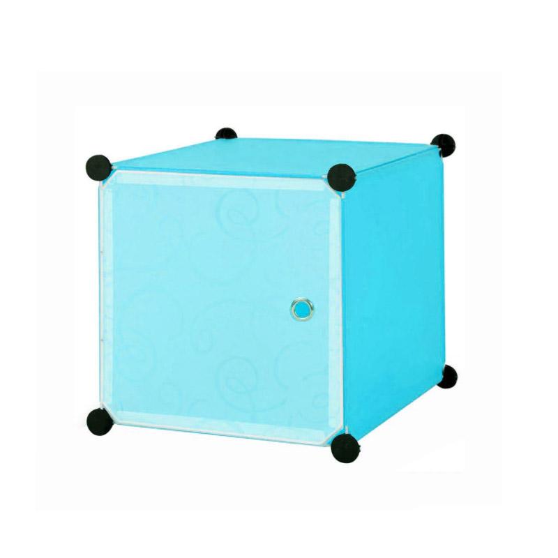 Σύστημα Αποθήκευσης - Πλαστική Ντουλάπα Χρώματος Γαλάζιο Hoppline HOP1000976-1