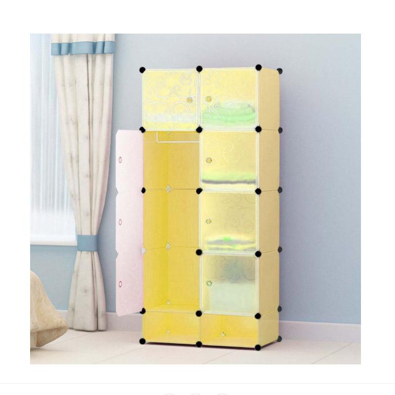 Σύστημα Αποθήκευσης - Πλαστική Ντουλάπα Χρώματος Κίτρινο Hoppline HOP1000976-3