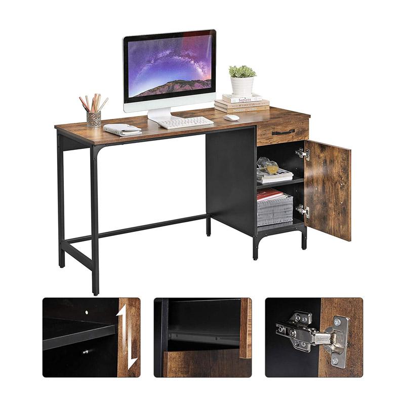 Μεταλλικό Γραφείο με 1 Συρτάρι και 1 Ντουλάπι 130 x 55 x 75 cm VASAGLE LWD51X