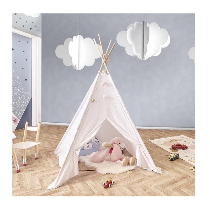 Παιδική Ινδιάνικη Σκηνή 120 x 120 x 160 cm Χρώματος Λευκό Home Deco Kids RG9226